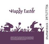 easter background. vector... | Shutterstock .eps vector #397177756