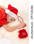 Little Boy In Santa's Hat...