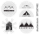set of vintage labels mountain... | Shutterstock .eps vector #397187482