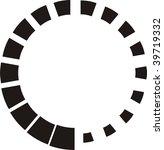 abstract circular black design | Shutterstock .eps vector #39719332