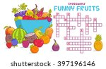 crossword puzzle with fruits... | Shutterstock .eps vector #397196146
