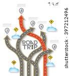 road   street design with arrow ...   Shutterstock .eps vector #397212496