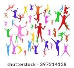 bright idea team achievement  | Shutterstock .eps vector #397214128