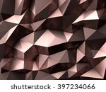Stock photo rose gold low poly background 397234066