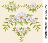 Vector Floral Design Element...