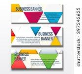 set of three horizontal... | Shutterstock .eps vector #397242625