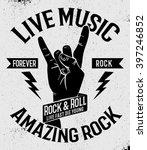 hand drawn rock festival poster.... | Shutterstock .eps vector #397246852