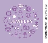 jewelry minimal outline icons ... | Shutterstock .eps vector #397248412