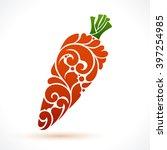 decorative ornamental carrot...   Shutterstock .eps vector #397254985