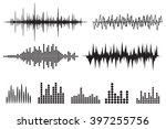sound wave icon set. equalize... | Shutterstock . vector #397255756