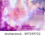 violet  and blue watercolor... | Shutterstock . vector #397259722