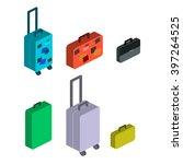 travel suitcases   Shutterstock .eps vector #397264525