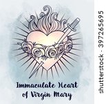 immaculate heart of blessed... | Shutterstock .eps vector #397265695