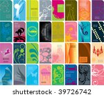 various type of business card... | Shutterstock .eps vector #39726742
