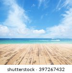 Wooden Pier  Exotic Sea And A...