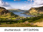 ullswater lake curves through...