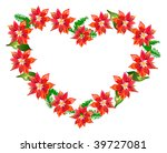 poinsettia heart | Shutterstock .eps vector #39727081