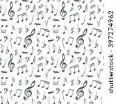 musical notes seamless pattern... | Shutterstock .eps vector #397274962