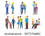 stages of family formation. the ... | Shutterstock .eps vector #397276882