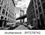 manhattan bridge seen from a... | Shutterstock . vector #397278742