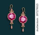 vintage gold jewelry earrings...   Shutterstock .eps vector #397279015