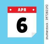 calendar icon flat april 6