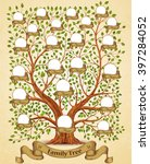 family tree template vintage... | Shutterstock .eps vector #397284052