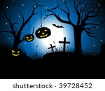 abstract blue halloween... | Shutterstock .eps vector #39728452