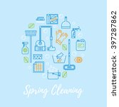 spring cleaning vector concept. ... | Shutterstock .eps vector #397287862