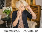 portrait of a beautiful girl.... | Shutterstock . vector #397288312
