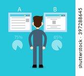split test concept | Shutterstock .eps vector #397288645