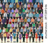 huge crowd of more than 50...   Shutterstock .eps vector #397289146