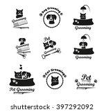 Muzzle Cat And Dog Logo. Set...