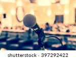 microphone over the abstract... | Shutterstock . vector #397292422