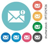 flat important mail icon set on ...