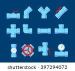 pipe fitting vector set. | Shutterstock .eps vector #397294072