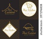 Set Of Golden Color Thai Food...