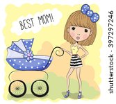 greeting card best mom with... | Shutterstock . vector #397297246