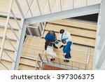 medical team having an... | Shutterstock . vector #397306375