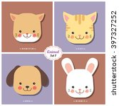 qnimal means cute animal  ... | Shutterstock .eps vector #397327252
