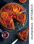 upside down blood orange cake ... | Shutterstock . vector #397328215