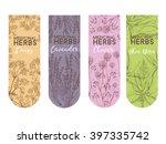 Vector Label Of Medicinal Herbs