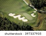 an aerial view of the fairway... | Shutterstock . vector #397337935