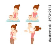 mother and baby set  rash ... | Shutterstock .eps vector #397340545