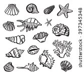 shell sea life vector set | Shutterstock .eps vector #397345348