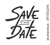 save the date invite card... | Shutterstock .eps vector #397352245