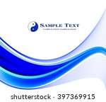 abstract blue background  | Shutterstock .eps vector #397369915