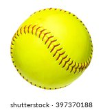 Softball Ball Isolated On Whit...