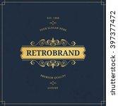 vector calligraphic logo... | Shutterstock .eps vector #397377472