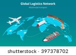 global logistics network. flat... | Shutterstock .eps vector #397378702